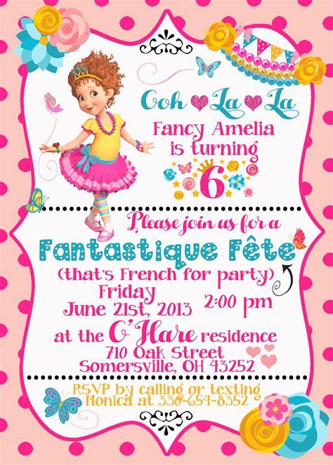 Fancy Nancy Birthday Invitation Fancy Nancy Party
