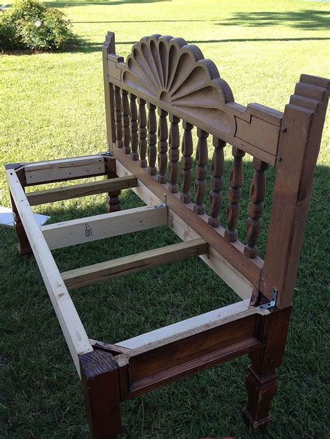 Make A Bench Out Of A Headboard And Footboard by How To Make A Bench From An End Table And Headboard