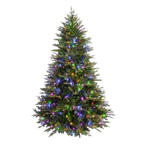 7 5 ft christmas tree with 1000 lights 7 5 ft evergreen quick set artificial christmas tree with