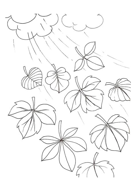 dessins de coloriage arbre automne  imprimer