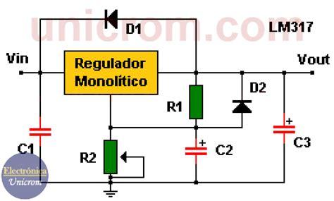 lm317 regulador de voltaje variable electr 243 nica unicrom