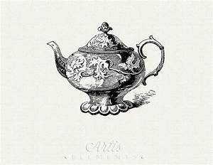 Items similar to Victorian Teapot Vintage Clip Art - Large ...