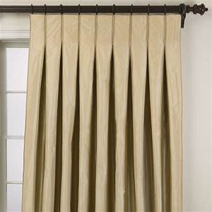 Taffeta stripe inverted pleat panel traditional for Inverted pleat drapes