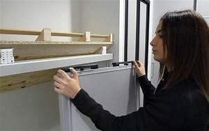 comment poser une porte de placard coulissante centimetre With pose porte de placard