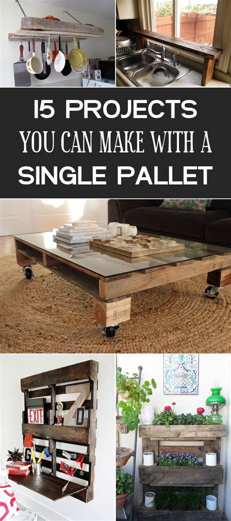 diy projects      single pallet wooden