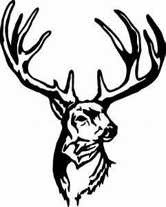 Deer Skull Decal Drop Tine | Clipart Panda - Free Clipart ...