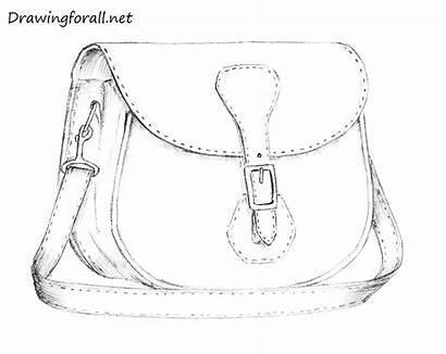 Bag Drawing Draw Pencil Step Drawingforall Stepan