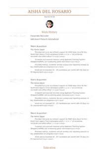 it recruiter resume for experienced corporate recruiter resume sles visualcv resume sles database