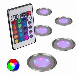 Led Spots Set : qazqa puck 5 ip67 rgb inbouwspot 5 lichts 58 mm staal ~ Eleganceandgraceweddings.com Haus und Dekorationen