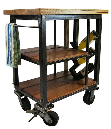 Napa Kitchen Cart by Napa Kitchen Cart Made From Reclaimed Butcher Block And