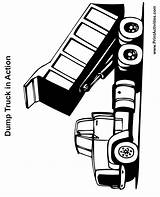 Dump Truck Coloring Pages Printable Trucks Clipart Clip Cliparts Printables Lifted Printactivities Library Spy Dots Coloringtop Favorites sketch template