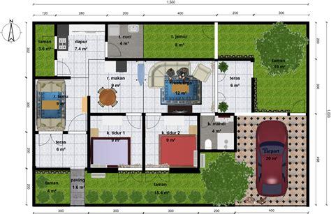 denah rumah minimalis pintu  pintu rumah minimalis