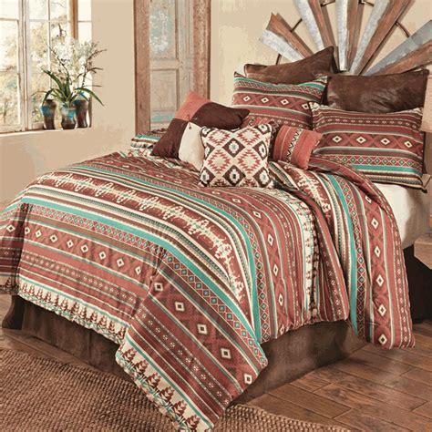 western bedding sets queen size sante fe spice comforter