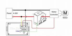 Dc Combo Meter With Hall Sensor Positive Negative Current