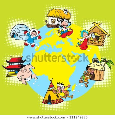 immagine vettoriale a tema illustration shows diversity races nations population royalty free