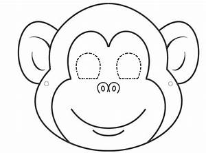 spider monkey clipart monkey face pencil and in color With cheetah face mask template