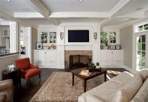 inspiring built  cabinets living room