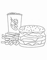 Burger Hamburger Fries Cola Coca Coloring Pages Mcdonalds Sheet Printable French Getcolorings Getcoloringpages Learn Template Clip Popular Books Water Cat sketch template