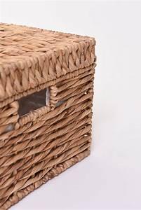 Korb Aus Wasserhyazinthe : vivanno korb mit deckel kira aus wasserhyazinthe 34 cm natur ~ Indierocktalk.com Haus und Dekorationen