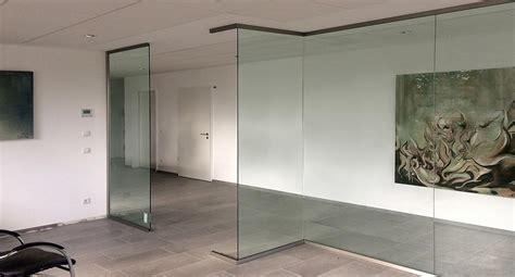 Trennwand Mit Glas by Glas Trennw 228 Nde Individuell Nach Ma 223 Glasprofi24
