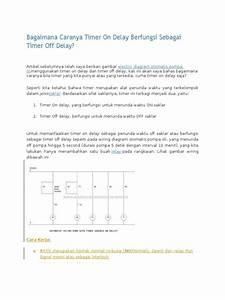 Wiring Diagram Otomatis Menggunakan Timer