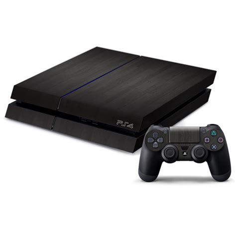 ps smooth black decal skin  console  controller wackydot