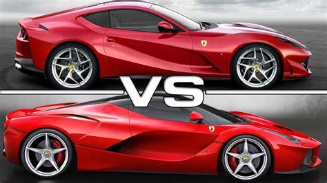 Ferrari 812 superfast or f12 tdf! 2018 Ferrari 812 Superfast vs 2015 Ferrari LaFerrari - YouTube
