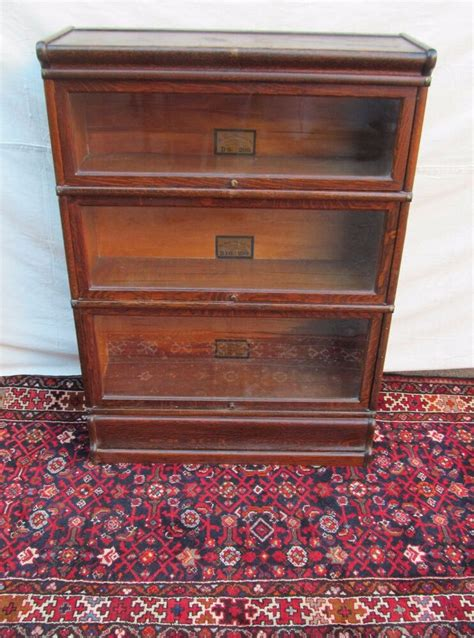 Oak Barrister Bookcase by 3 Section Globe Wernicke Barrister Bookcase In Oak With