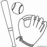 Baseball Bat Coloring Ball Glove Sports Pages Printable Clip Mitt Bigactivities Softball Template Clipart Bats Cartoon Printables Activities Cliparts Sheets sketch template