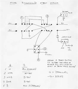 Hermetico Guitar  Wiring Diagram  Mike Richardson Mod 02