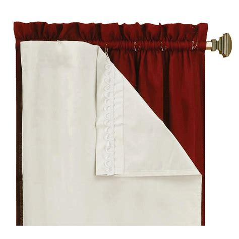 Room Darkening Drapery Liners by Eclipse Thermaliner White Blackout Energy Saving Curtain