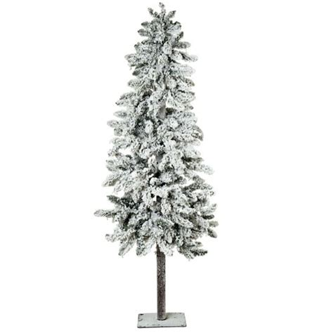 pre lit artificial snow effect alpine tree from marks