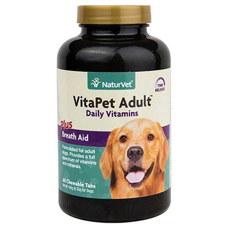 vitapet daily adult vitamins dog tablets  naturvet