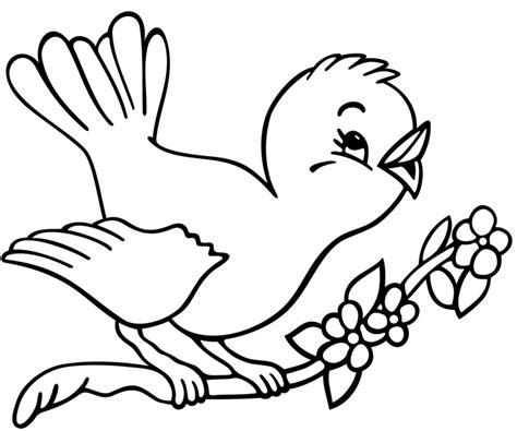 disegni da colorare uccelli sta disegno di uccelli in primavera da colorare