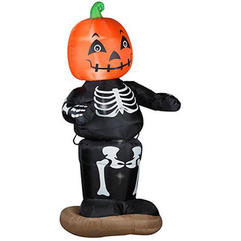 Halloween Airblown Inflatables Walmart 6 airblown inflatables animated dancing pumpkin boy