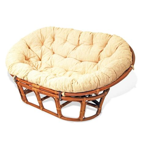 rattan loveseat cushions mamasan rattan wicker sofa w cushion papasan