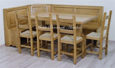 cassapanca con tavolo panca ad angolo per cucina o taverna tavoli