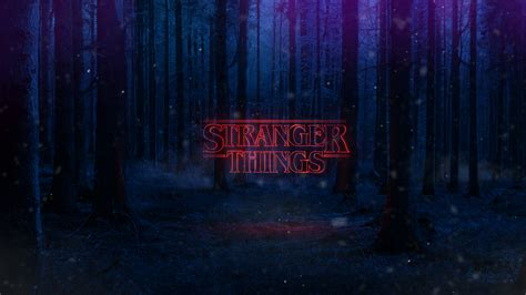 Stranger Things Text Poster, Full Hd Wallpaper