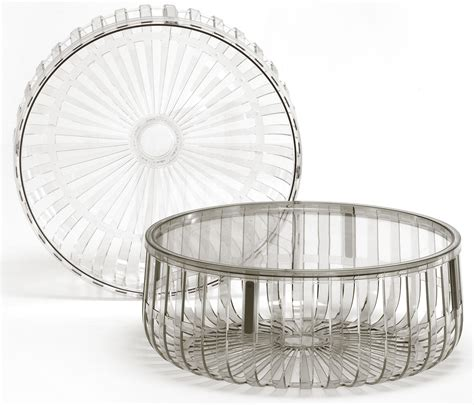table basse panier kartell cristal made in design