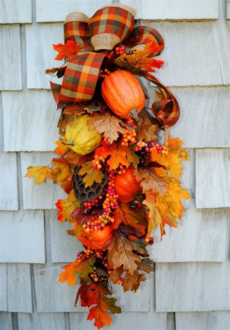 fall wreath swag autumn harvest wreath for the door sale floral and p