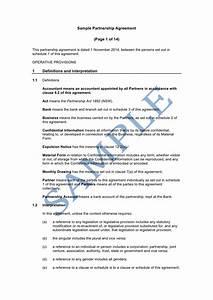 Free sample business agreement format resume daily for Corporate partnership agreement template