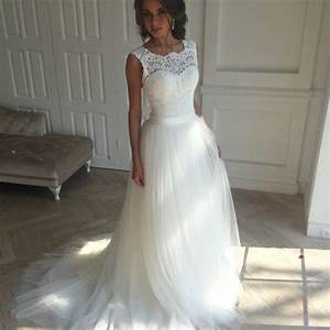 sleeveless white wedding dresssexy appliques bridal dress With luulla wedding dresses