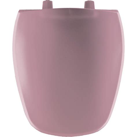 BEMIS Round Closed Front Toilet Seat in Dusty Rose-124 ...