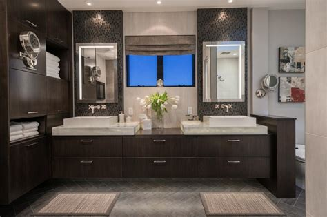 contemporary spa like bathroom with vanity hgtv