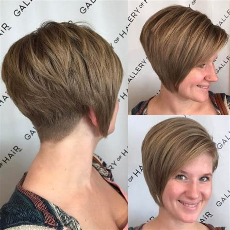 womens burgundy asymmetrical pixie bob  side swept