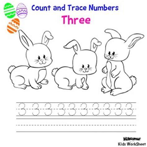 easter number trace worksheet crafts  worksheets