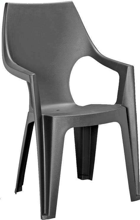 chaise allibert allibert chaise de jardin dante dossier haut gris
