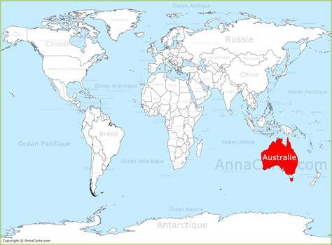 Carte Geographique Du Monde Australie carte du monde australie