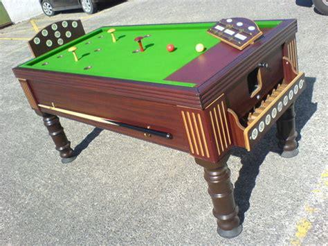 antique bar billiard table and new bar billiards spares