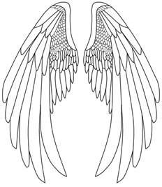 Angel Wings Drawings Pencil
